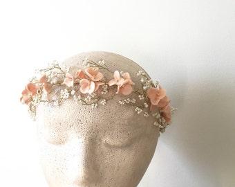 Blush Floral halo Bridal flower halo Style FH01