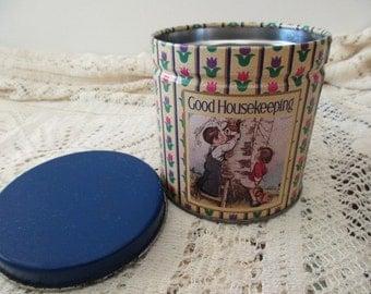 Vintage Good Housekeeping DECORATIVE TIN - kids, magazine, flowers