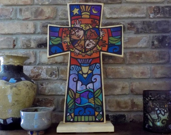 Custom Designed Table Top Wooden Cross
