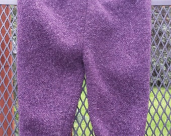 Upcycled Wool Cover, Longies, medium, purple, lambswool