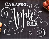 Chalkboard Caramel Apple Bar Collection