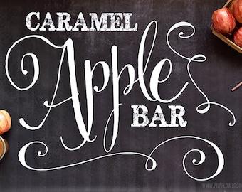 Chalkboard Caramel Apple Bar Collection