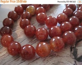 "30% OFF SALE Red Cracked Agate Round 12mm Round, 8"" long, 16 pcs"