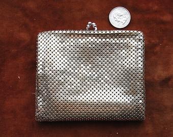 Vintage WHITING & DAVIS Silver Metal Mesh Wallet