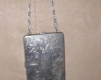 Antique WM co. Silver Compact / Dance Purse