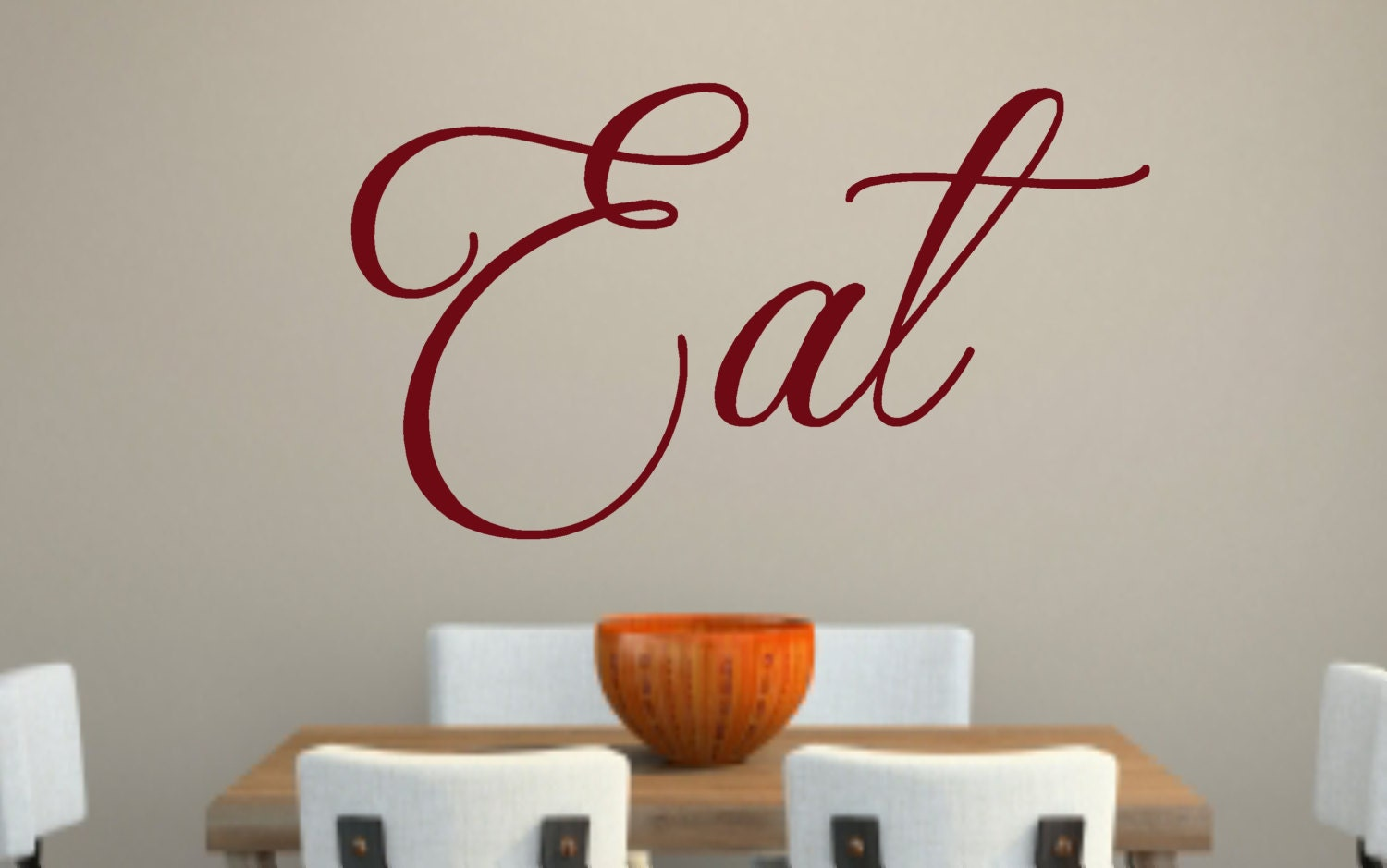 Eat Kitchen Decor Wall Decal : Eat kitchen vinyl wall decal by