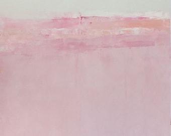 Abstract print on paper,limited edition,Pink Field,tkafka,wall art,decor
