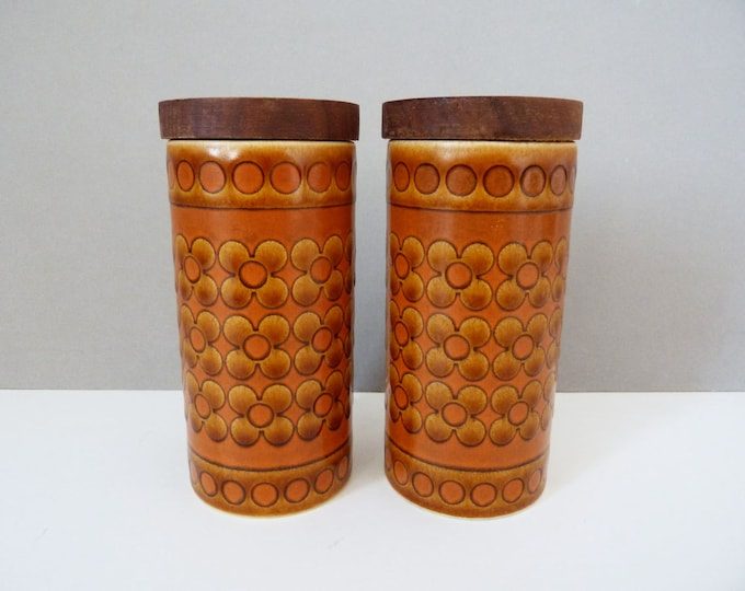 1970's Hornsea Saffron salt and pepper pots