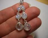Rainbow Moonstone earrings, silver, long silver earrings, natural Moonstone, dangle earrings, blue flash, natural gemstone, drop earrings