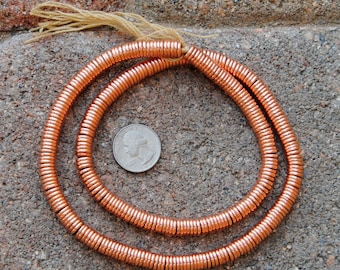 Indian Copper Metal Disk Beads