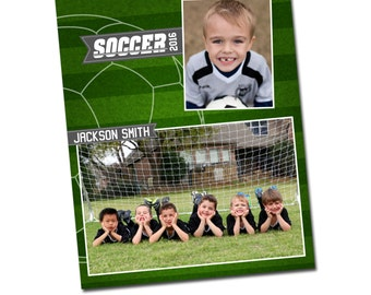INSTANT DOWNLOAD - Photography 16x20 Memory Mate Sports Photo Template - E1023