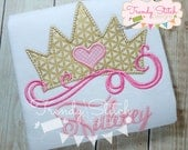 Princess Crown applique design machine embroidery design INSTANT DOWNLOAD Princess