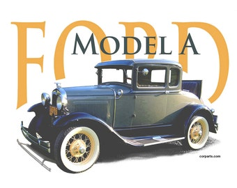 Car T-SHIRT FORD MODEL A