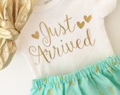 Take home outfit, baby girl outfit, new baby outfit