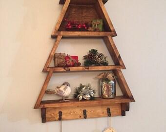 Wood Christmas Tree Decor