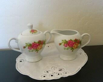 Sugar Bowl and Creamer Set - Joseph Sedgh Tableware