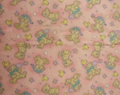 Pink Baby Bear Flannel