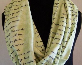 Shakespeare's Sonnet 116 Knit Infinity Scarf
