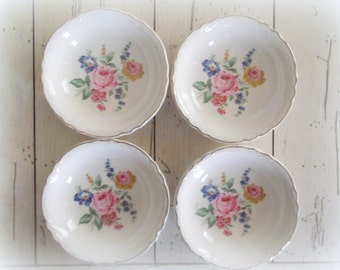 Scio Pottery Bowls Vintage China Tea Party Wedding Dishes Hazel Pattern