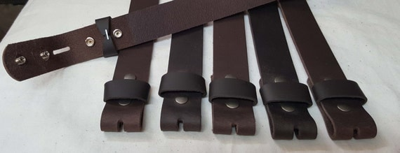 Dark Brown Leather Belt ~ Interchangeable Snap Belt ~ Custom Cut for Your Waist Size ~ Leather Belt for Suit ~ Leather Belt for Jean