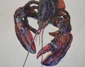 Maine Lobster Art Origina...