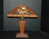 Montana Agate & Cherrywood Table Lamp