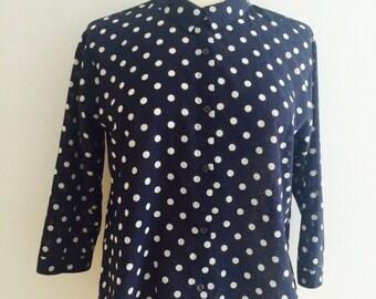 Navy polka dot lightweight shirt (s)