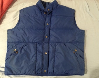 Down East brand, Hand grenade style, Vest, Down, 70s original,