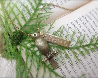 Bird Peace Necklace
