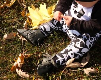 Baby Boy Leggings - Baby Girl Leggings  - Panda Bears - Gender Neutral Baby Clothes
