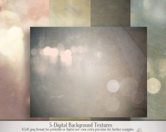 "Digital Background Textures, ""Vintage Bokah"", photography textures, scrapbooking paper, instant download, cu ok, Bokah photography paper"