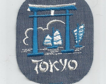 Tokyo Japan Ancient City Authentic Collectible Vintage Patch from 1970s