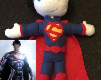 Superman Doll - handmade fleece