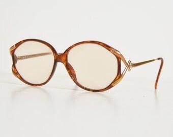 Vintage 70s 80s Christian Dior Frames Oversized Eyeglasses