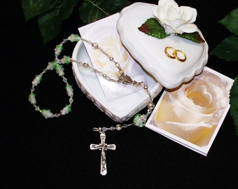 Heirloom Bridal One-Decade Catholic Rosary - Gift for Bride