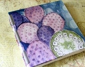 Handmade Art Journal Watercolour Sketchbook - Cactus
