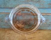 Pyrex Glass Lid 470 Fits Cinderella Casserole Harvest Pattern