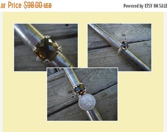 ON SALE Smokey quartz ring in sterling silver