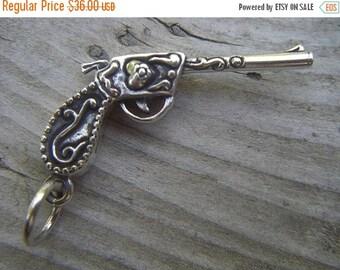 ON SALE Gun pendant in sterling silver