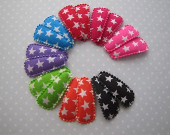 Bright Stars . baby snap clips . girls hair accessory . choose your color
