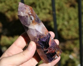 Amethyst Purple Quartz Crystal Polished Tower