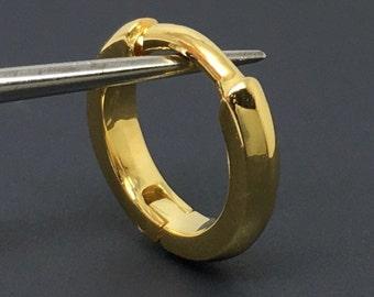 16 gauge earring, solid gold gauged hoop earrings, men's hoop earrings, cartilage earrings, 16 gauged hoop earrings, E005SY 16G