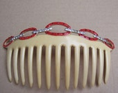 French Ivory comb vintage Art Deco hair comb hair jewelry hair ornament headdress headpiece