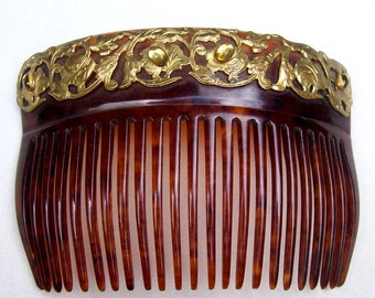Antique hair comb Victorian comb hair accessory hair jewelry decorative comb headpiece headdress celluloid comb