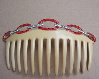Faux tortoiseshell comb vintage Art Deco Spanish hair comb hair jewelry hair ornament headdress headpiece