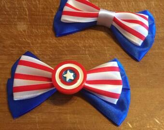 Superhero Inspired (Marvel) Captain America Hair Bow