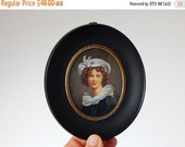CLOSING 50% french miniature painting vintage hand painted miniature