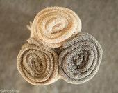 Three Newborn Wraps, Baby Stretch Wraps, Putty, Tan, Cream Stretchy Knit Wraps, Newborn Photo Prop, Newborn Props, Neutral Wraps, RTS