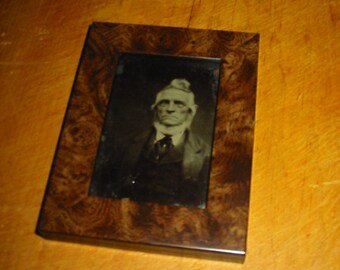 Antique Tintype Photograph Salvage Reframed Tintype Portrait Photo Old Man Ancester Portrait Home Decor