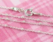 925 Sterling Silver Satellite Ball Chain Necklace, 16 18 20 22 24 to 36 inches